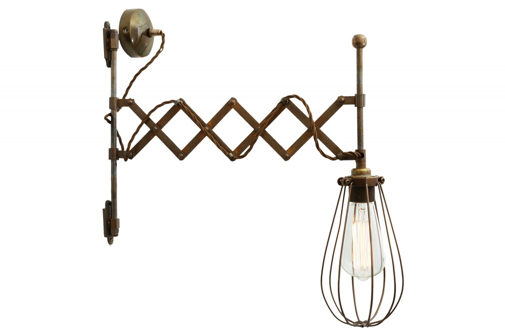 Calis Scissor Arm Cage Wall Light