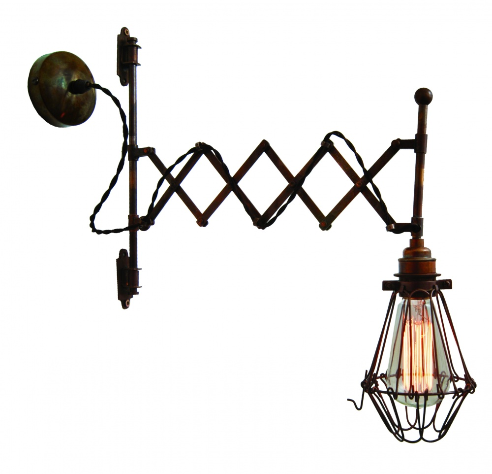 Lonn Adjustable Scissor Arm Wall Light