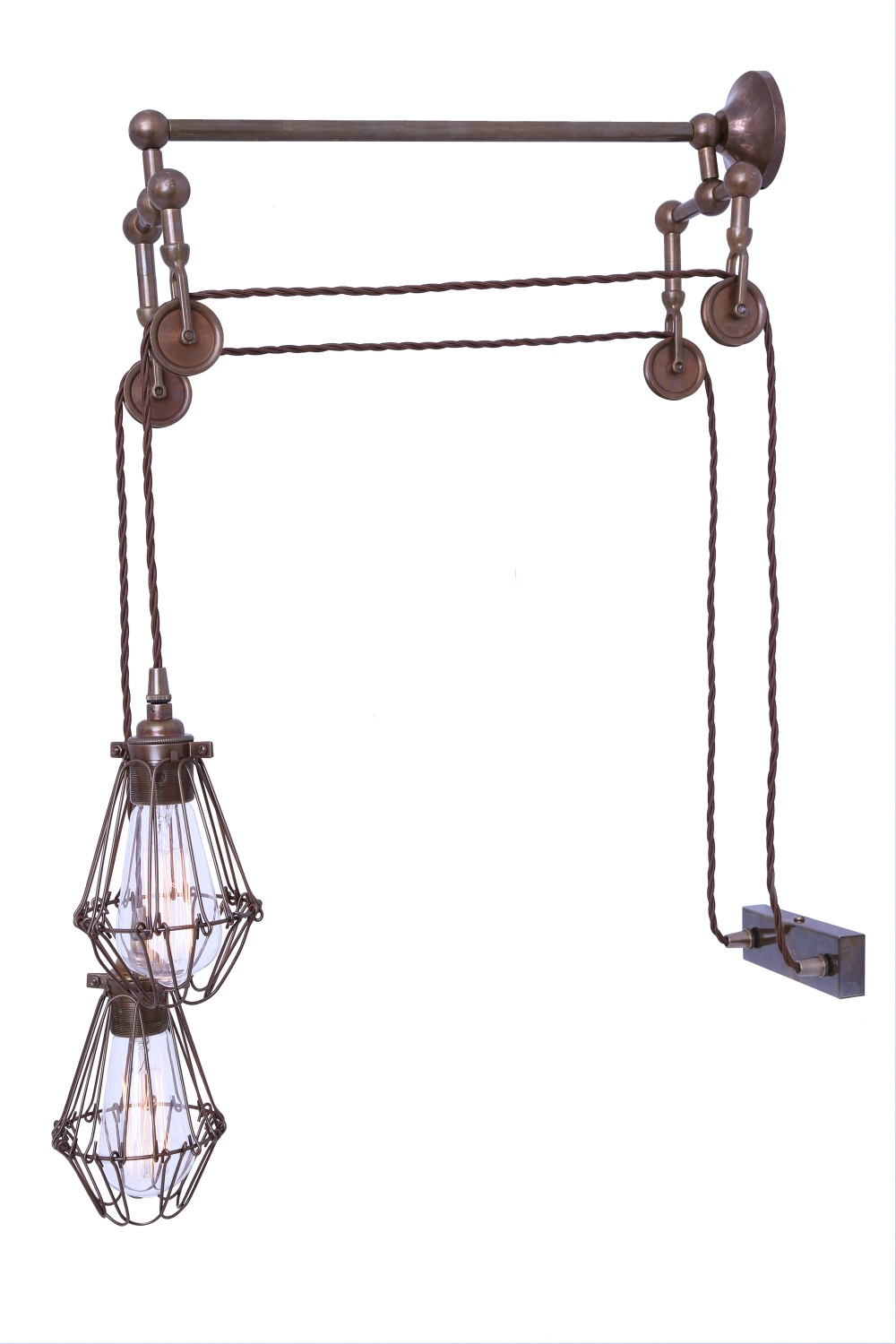 Maxum Double Pulley Wall Light