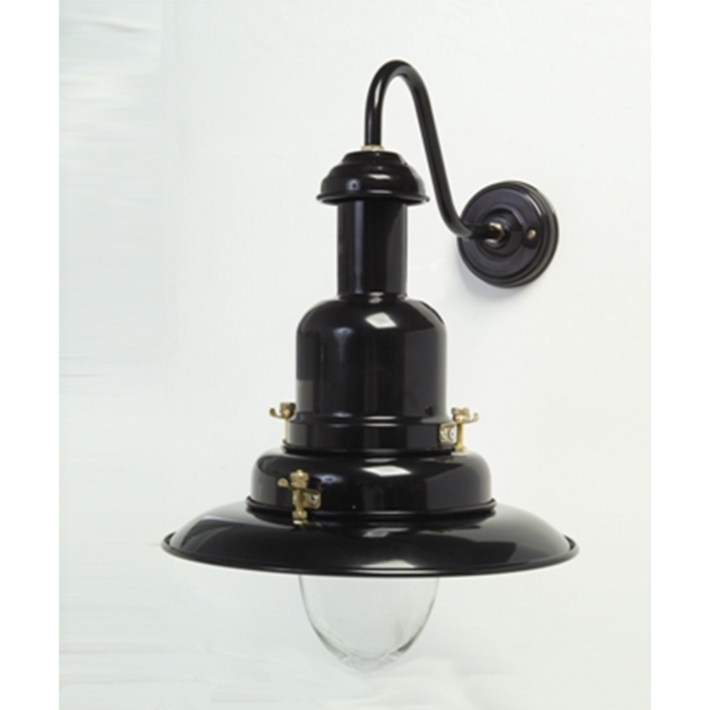 Black Fisherman's Wall Light