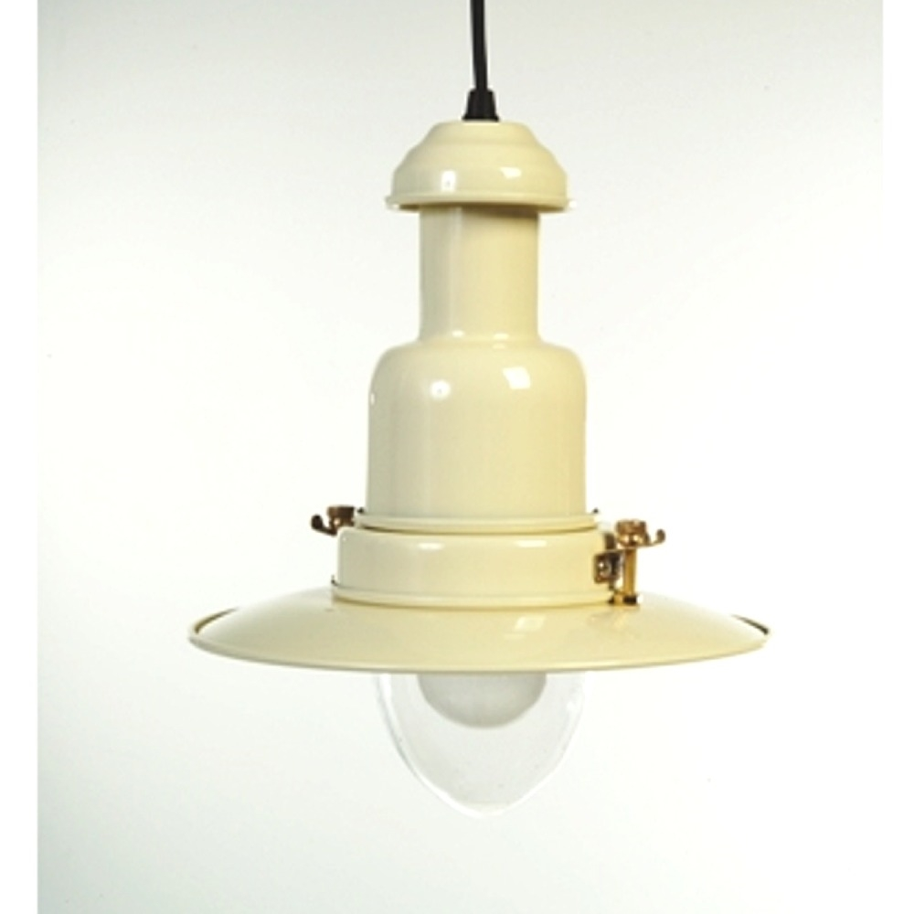 Traditional Large Fishermans Pendant Light In Cream