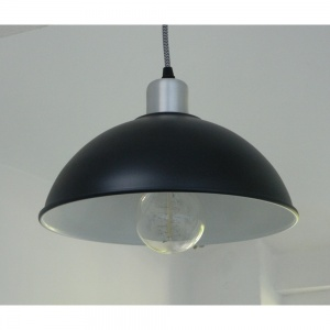 Satin Black Retro Basin Pendant Light