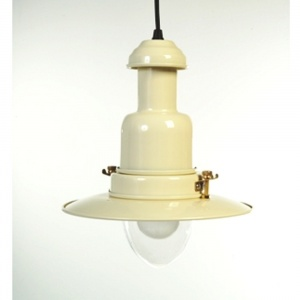 Country Cottage Cream Fisherman's Pendant Light