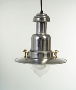 Small Fisherman's Pendant Light in Industrial Aluminium