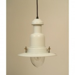 Flat White Country Cottage Fisherman's Pendant Light