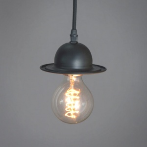 Mini Bowler Hat Pendant - Choice of Bulb