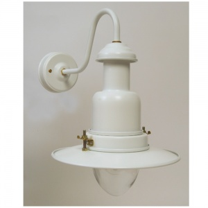 Flat White Outdoor Fisherman's Wall Light